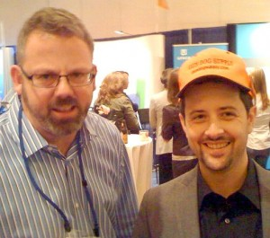 Chris Goward Rob Snell orange hat
