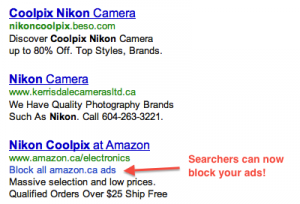AdWords Ad after visiting landing page