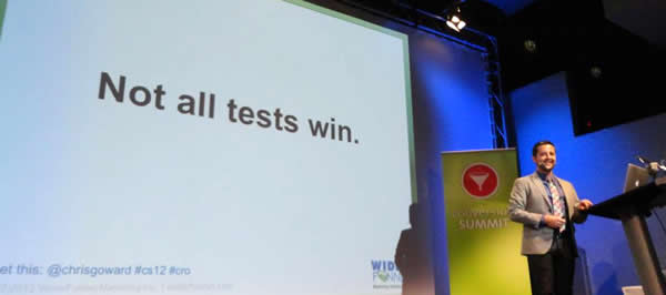 Chris Goward Conversion Optimization not all tests win