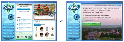 EA The Sims 3 A/B/n Test
