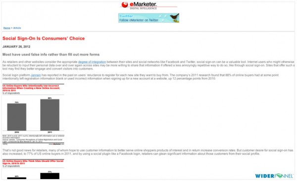 eMarketer downside of mobile only site
