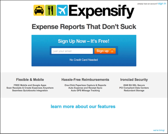 Expensify Homepage