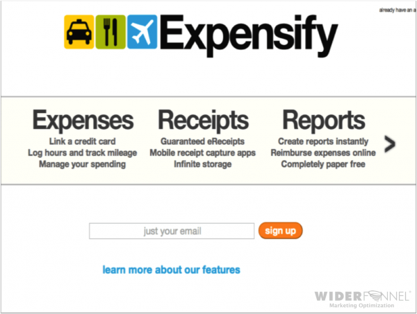 Expensify Control Page