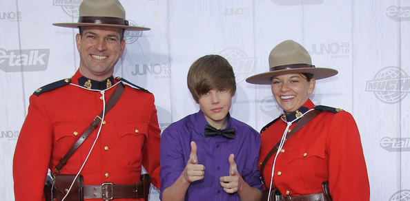 RCMP always get their Bieber