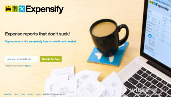 Expensify latest winning page variation