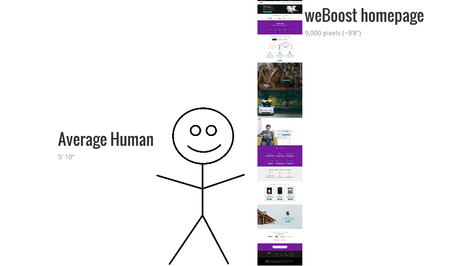 weBoost original homepage