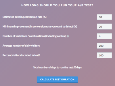 VWO_Test_Duration_Calculator
