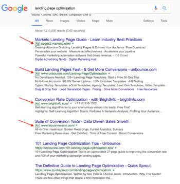 landing-page-optimization-SERP-space