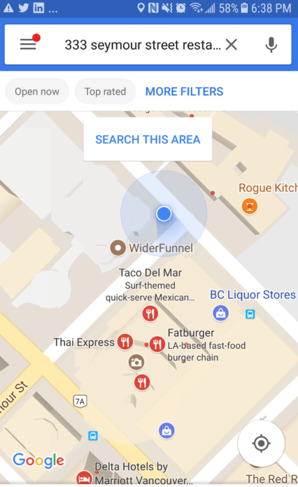 Location Search Using Google Maps