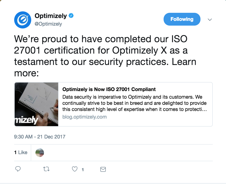 Optimizely Data Security Practices