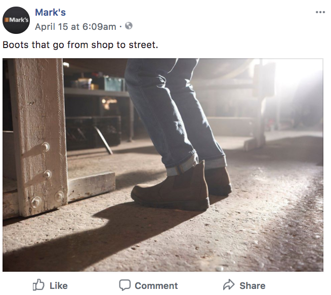 Mark's Digital Transformation Strategy Facebook Post