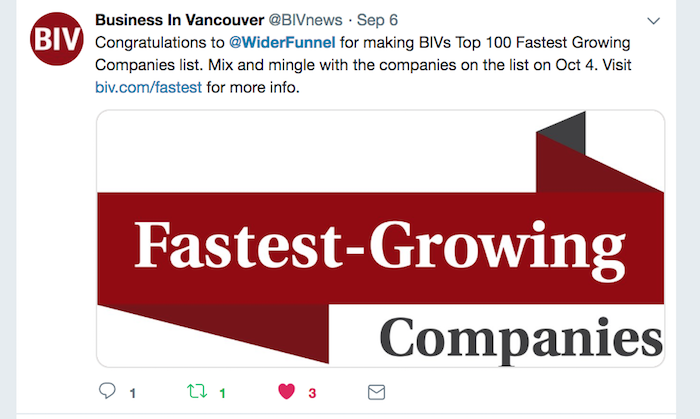 WiderFunnel Business in Vancouver Fastest Growing Companies in BC