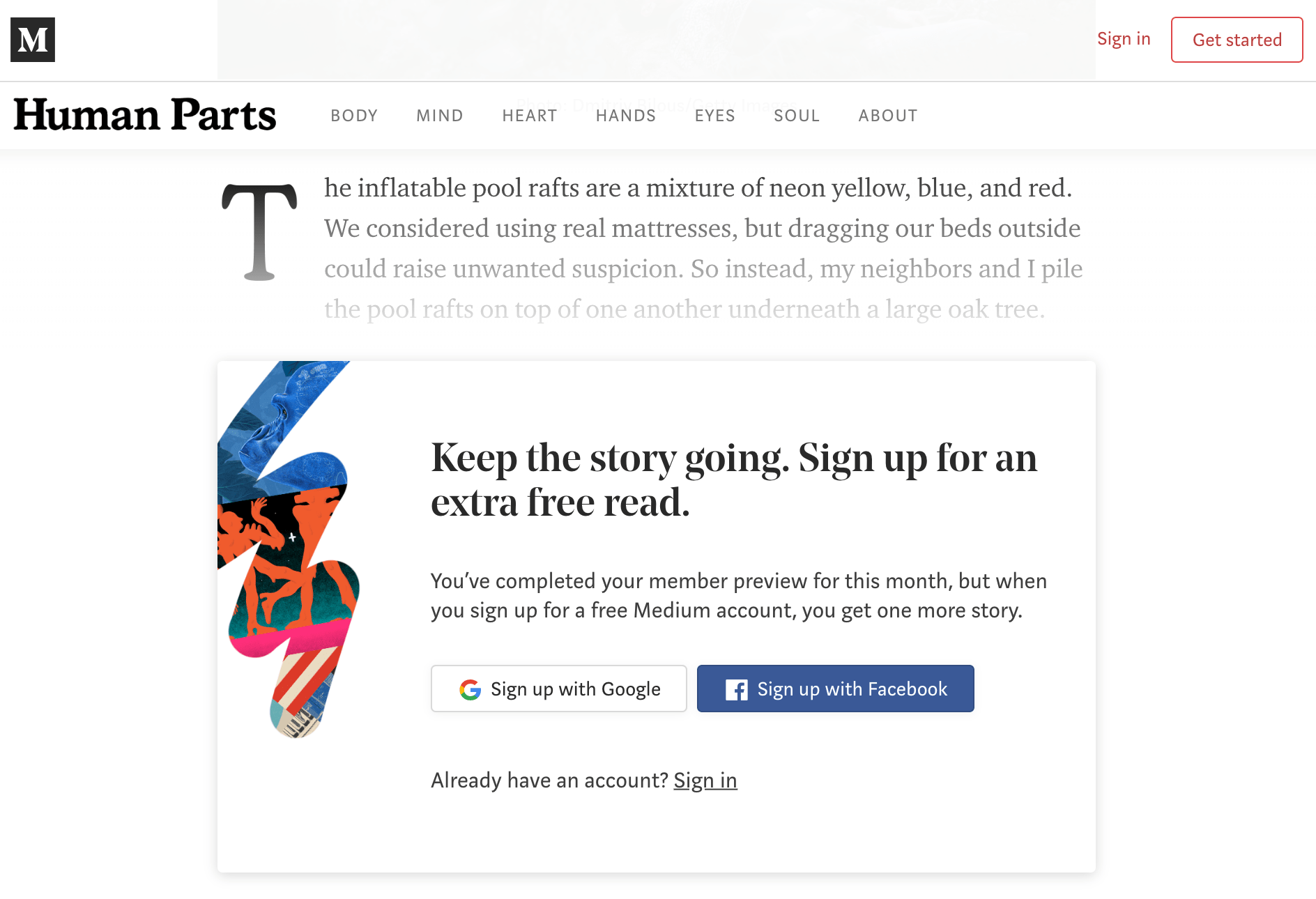 Mid Article Subscription Pop Up Example Medium